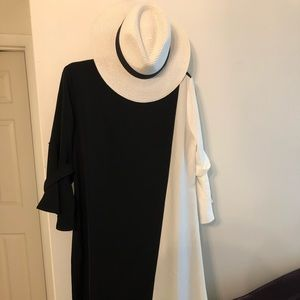 Dresses & Skirts - Black and white classy evening wear dress